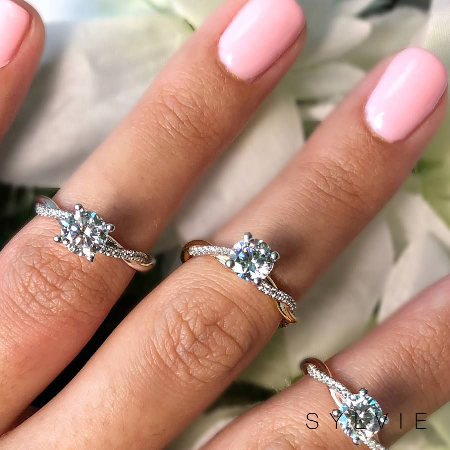 Spiral Engagement Rings Sylvie Collection S1524 Spiral Engagement Ring Designer Engagement Rings Criss Cross Engagement Ring