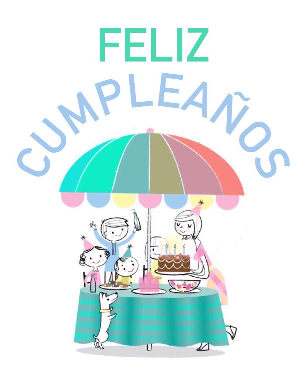 Feliz Cumpleaos Fiesta Familia Festejando Birthday Cards And