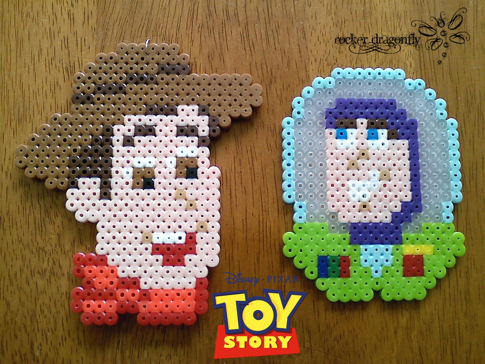 From Toy Story: Woody and Buzz !!! Perler Bead Creation by: RockerDragonfly