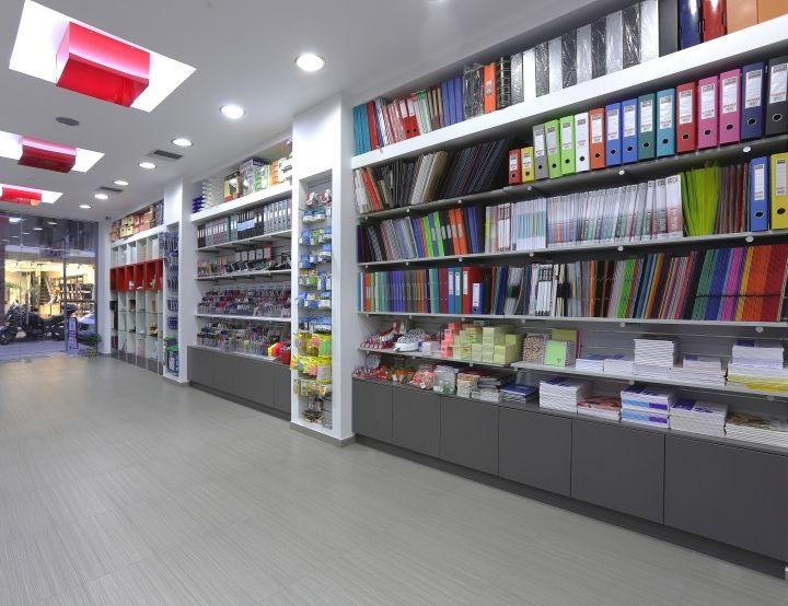 Kyvos Stationery Shop By Lefteris Tsikandilakis Heraklion Greece Retail Design Blog Store Shelves Design Store Design Interior Stationery Store Design