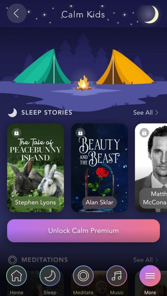 Teachers can get a free subscription to the Calm app—it
