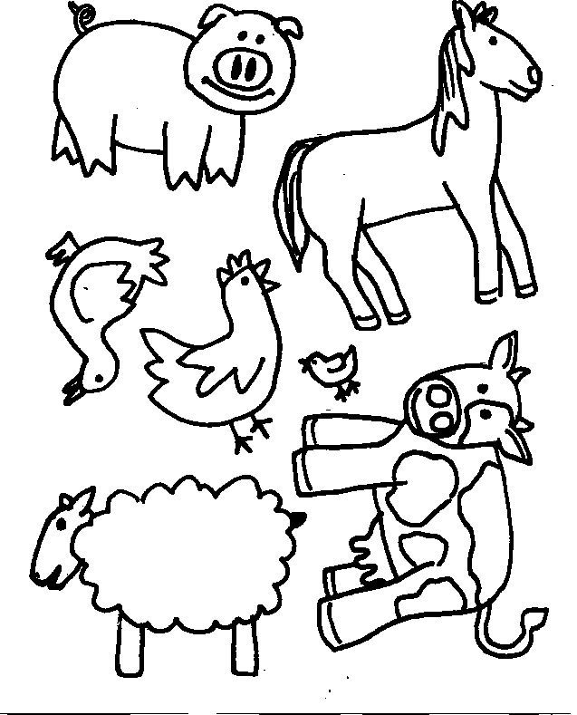 colorwithfun.com - Pictures of Farm Animals For Kids | hand ...