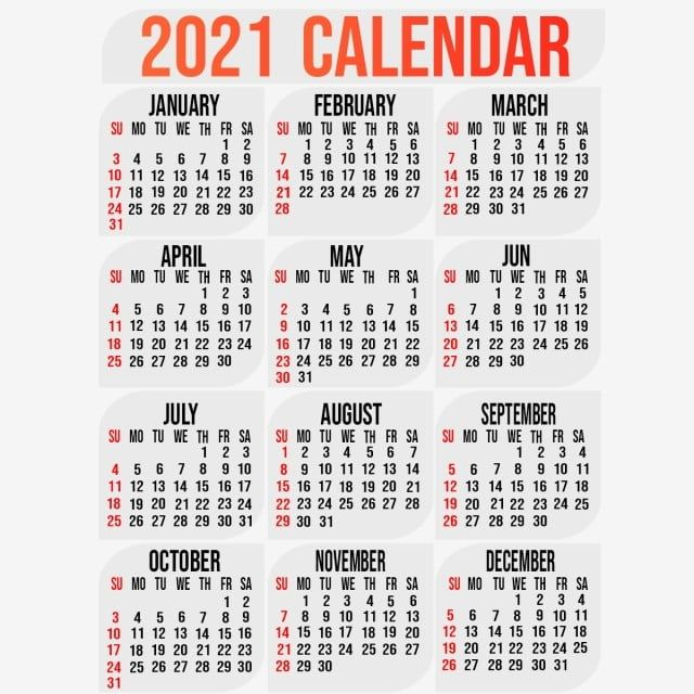 Download Template Kalender 2021 Psd