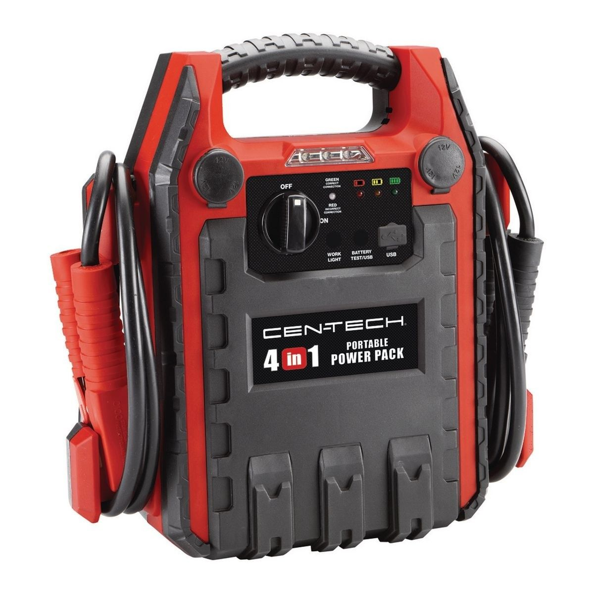 4In1 Power Pack With Jump Starter and Compressor Cable