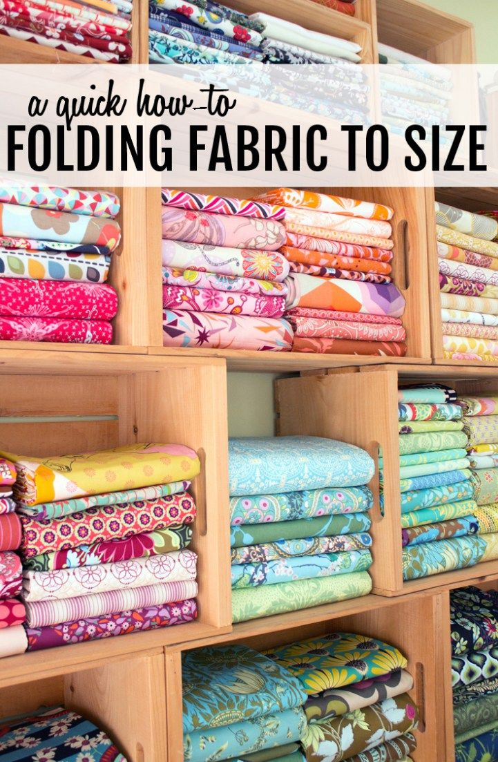A Sunny Sewing Room Folding Fabrics To Size