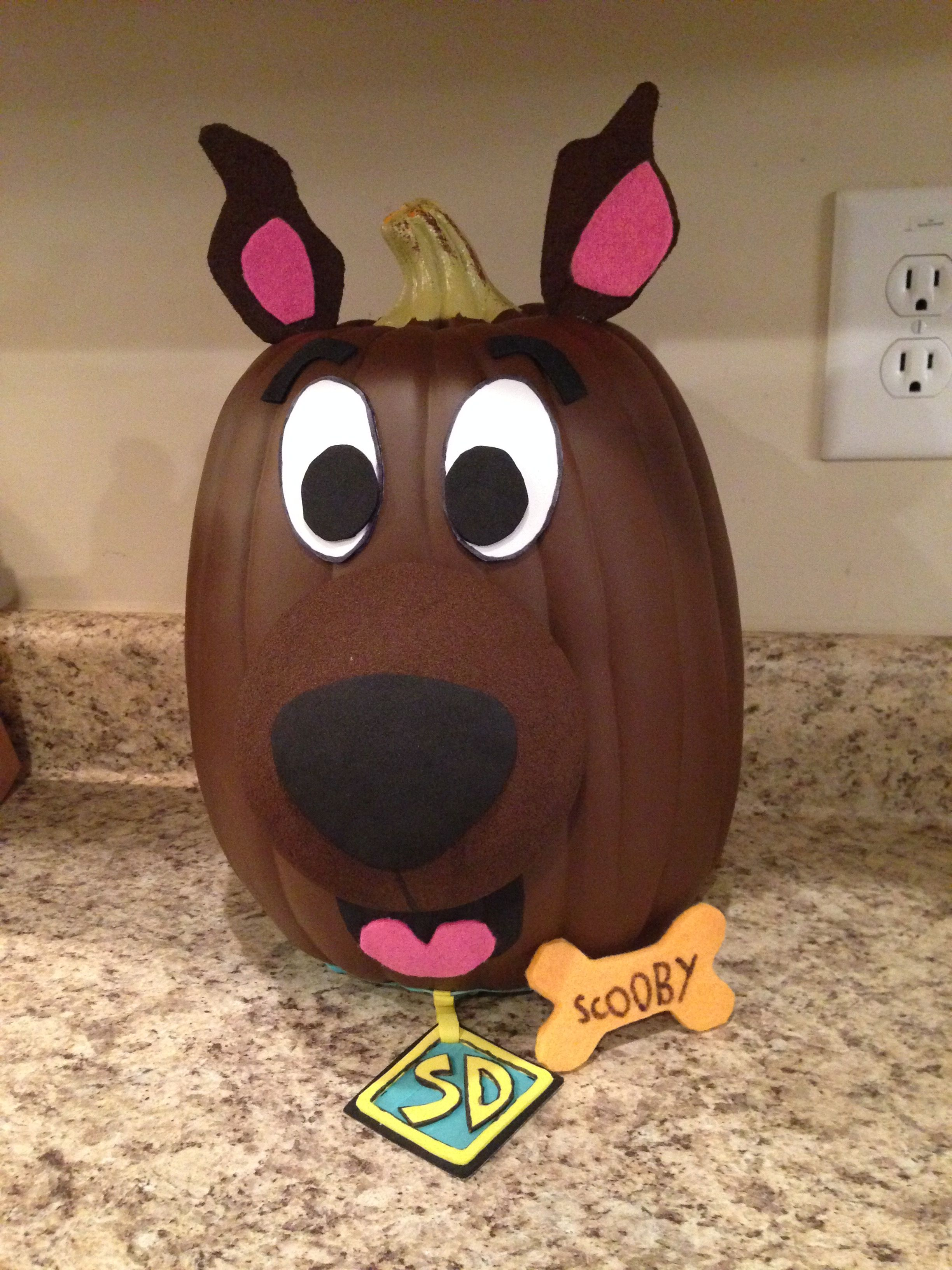 Scooby doo painted pumpkin project halloween pinterest for Sully pumpkin template