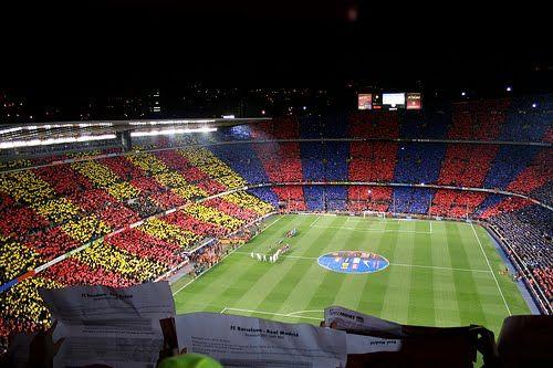 Camp Nou, stadion of FC Barcelona, Montjuich, Barcelona, Spain.