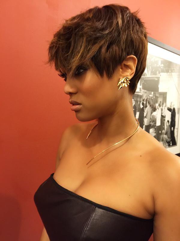 Tyra Banks On Black Women Hair Pinterest Short Hair Styles