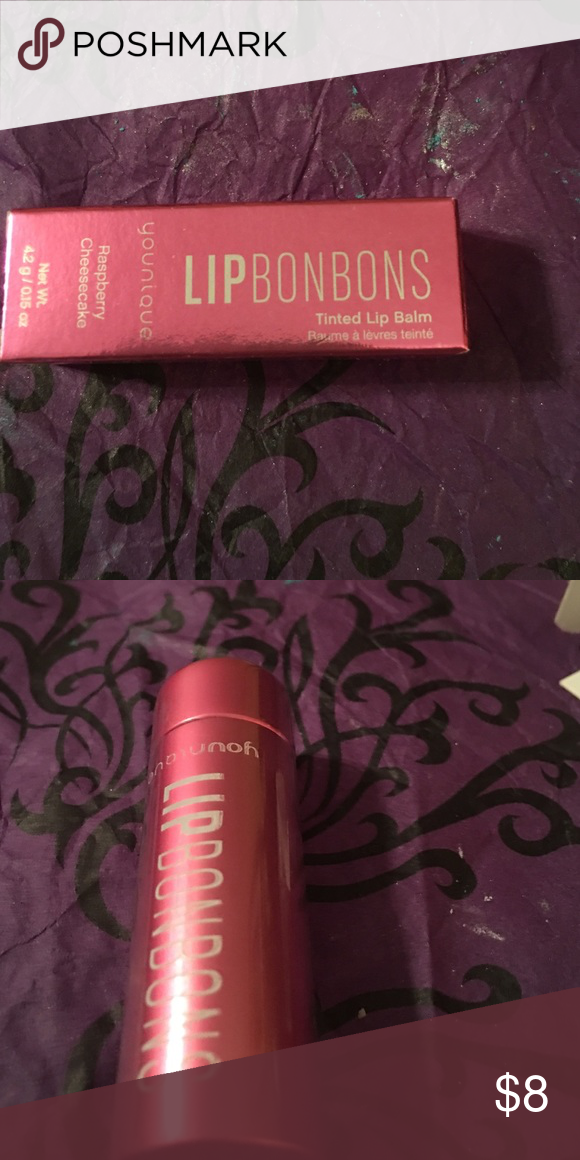 Younique Lip BonBons Lip BonBon in Raspberry Cheesecake. Adds a tint of color and moisture to your lips. Younique Makeup Lip Balm & Gloss