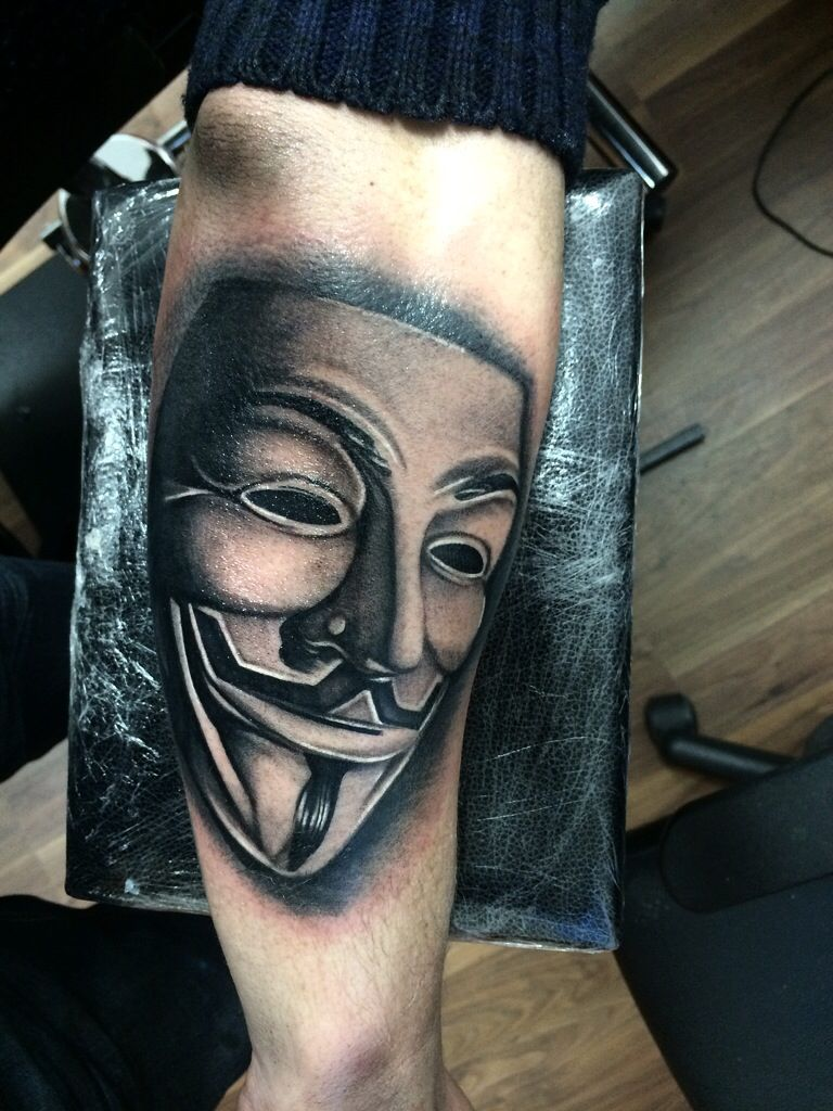 V For Vendetta Mask Tattoo #anonymous#anon...