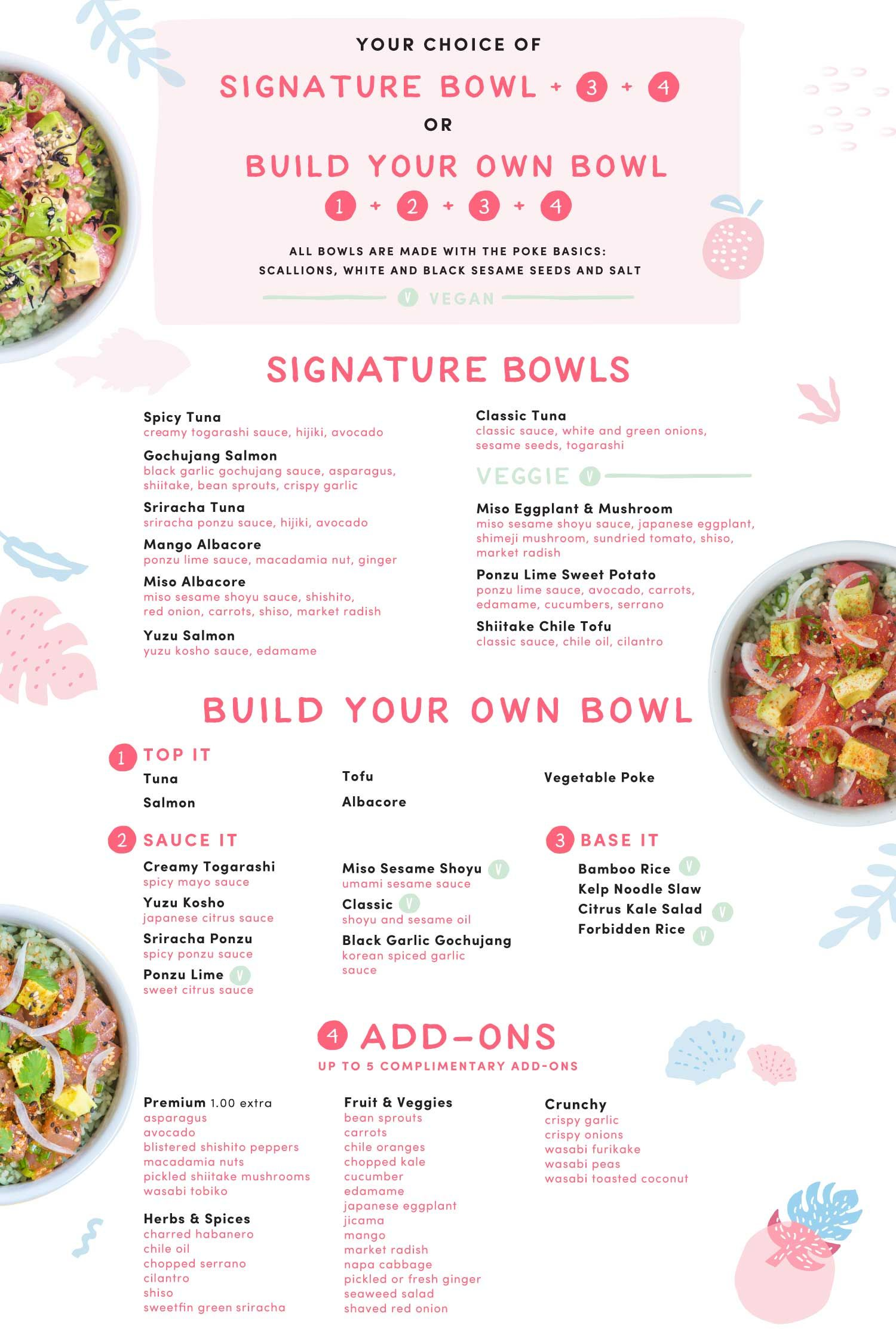 SweetfinWebMenumenuboardF.jpg Poke bowl menu, Food