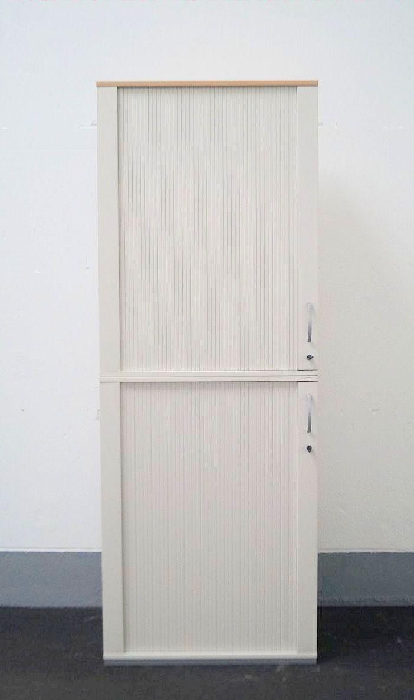 Aktenschrank, 2-Teilig, Hersteller: Schärf, Farbe: Weiß ...