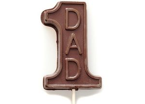 The #1 Dad Pop is a sweet treat to celebrate this year's Father's Day. It's also a perfect 'gift-topper' to sweeten up his day. Available in the finest milk or dark chocolate.    #GlutenFree #Chocolate #Gift #FathersDay #1Dad