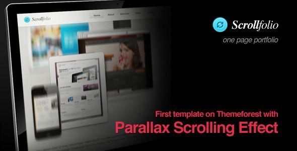scrollfolio parallax scrolling effect portfolio. Black Bedroom Furniture Sets. Home Design Ideas
