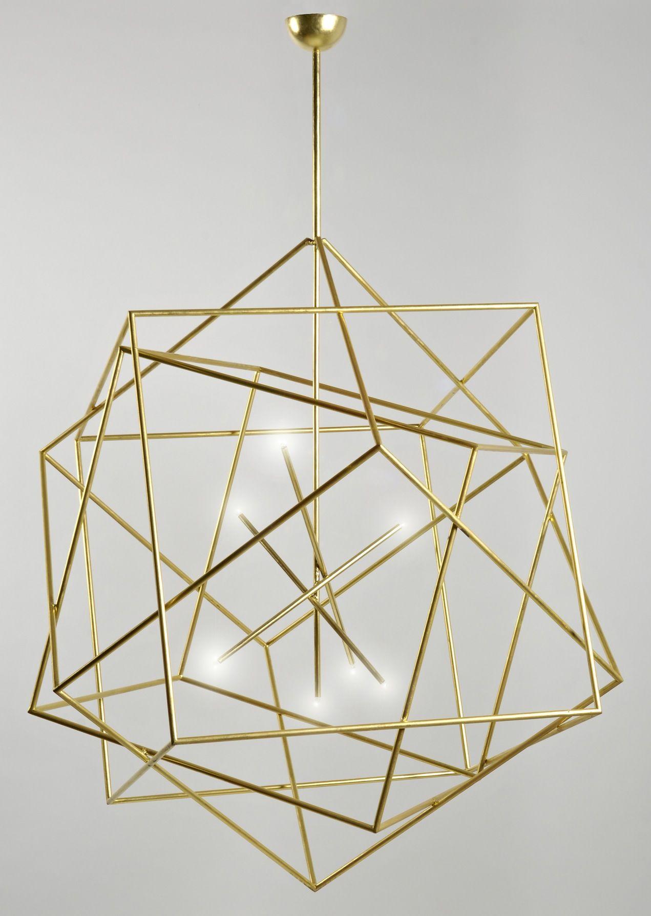 Chandelier  Bedroom light fixtures, Geometric lighting, Geometric