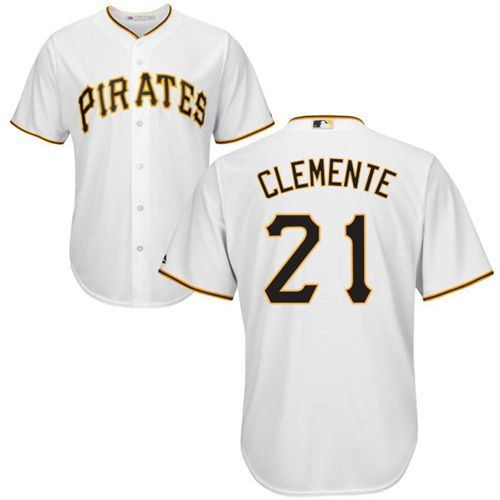 0dbd2935b Pirates  21 Roberto Clemente White New Cool Base Stitched MLB Jersey ...
