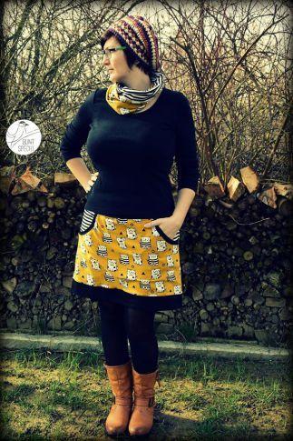 Lady Sweat Skirt | Sewing | Pinterest | Schnittmuster, Nähen und ...