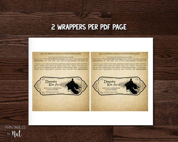 Gorgeous image with dementor chocolate wrapper printable