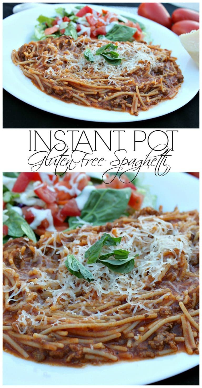 this instant pot glutenfree spaghetti recipe can be made