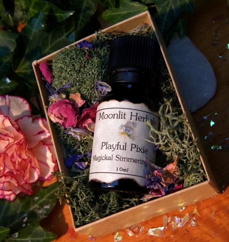 Playful Pixie Magickal Simmering Oil - 10ml Amber Bottle - Joy, Working with Nature Spirits, Faerie Offerings, Growth, Welcoming the Spring