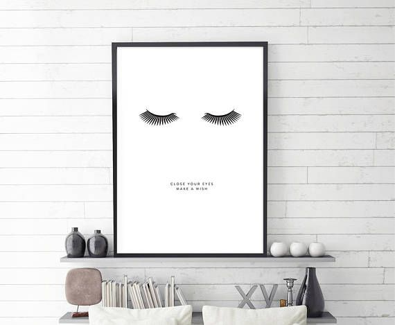 Close your eyes, make a wish, poster design. Digital download. No waiting for shipping. A quick and affordable way to add beautiful new artworks to your walls.  WHAT YOU WILL RECEIVE:  1) 4:5 ratio file for printing: Inch: 16x20, 12x15, 11x14, 8x10, 4x5 Cm: 40x50, 30х38, 28x35, 20x25, 10x12  2) 3:4 ratio file for printing:  Inch: 18x24, 15x20, 12x16, 9x12, 6x8 Cm: 45x60, 38х50, 30x40, 22x30, 15x20  3) 2:3 ratio file for printing: Inch: 20x30, 16x24, 12x18, 8x12, 4x6 Cm: 50x76, 40х60, 30x45…