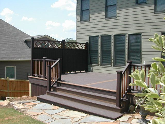 deck privacy fencing ideas this trex deck and trex privacy fence is