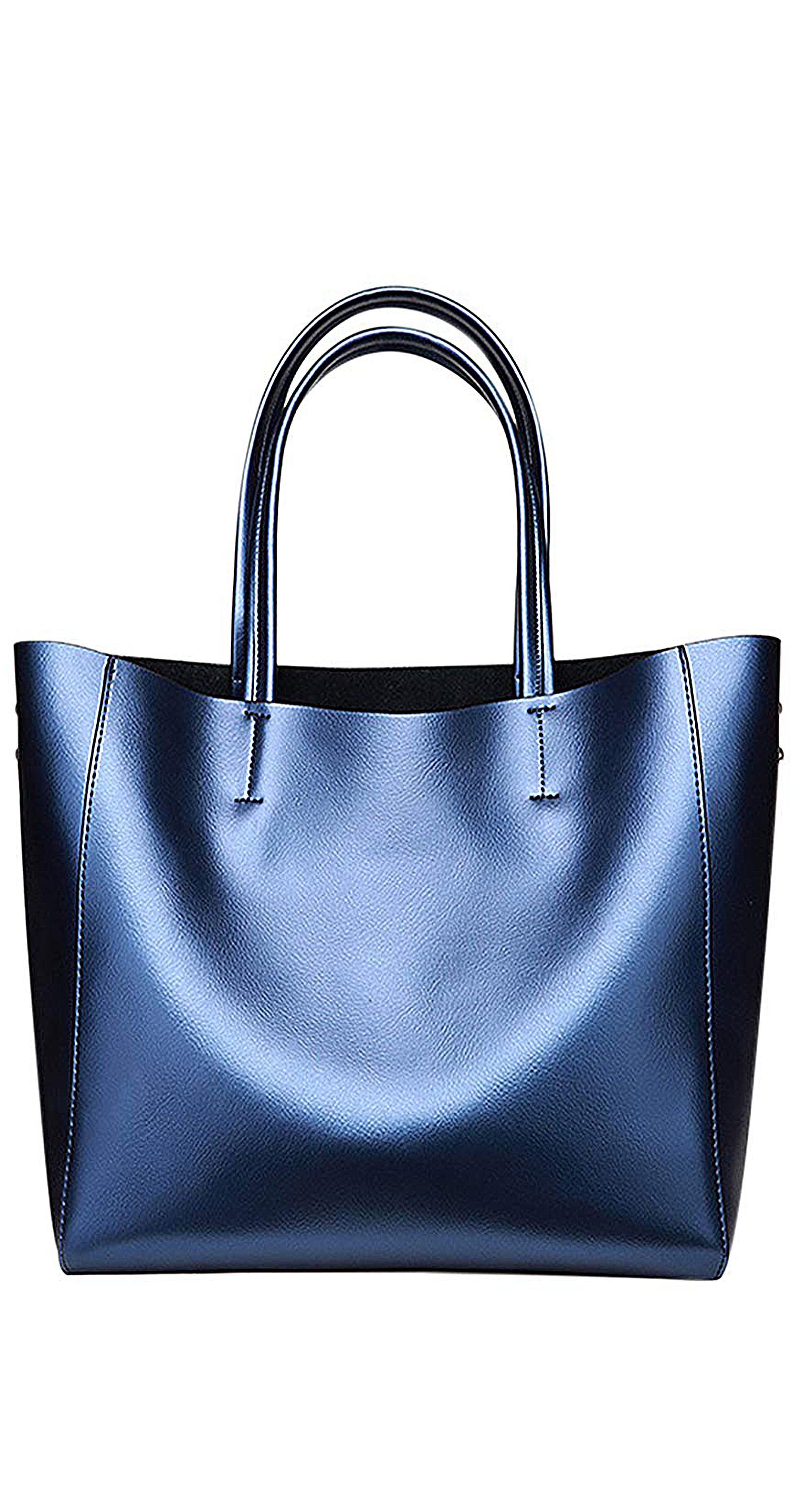 bb27f5d3f3ff Anynow Luxurious Women s Genuine Leather Handbag Fashion Cowhide Shoulder  Bag Ladies Tote Bag Woman s fashion bags