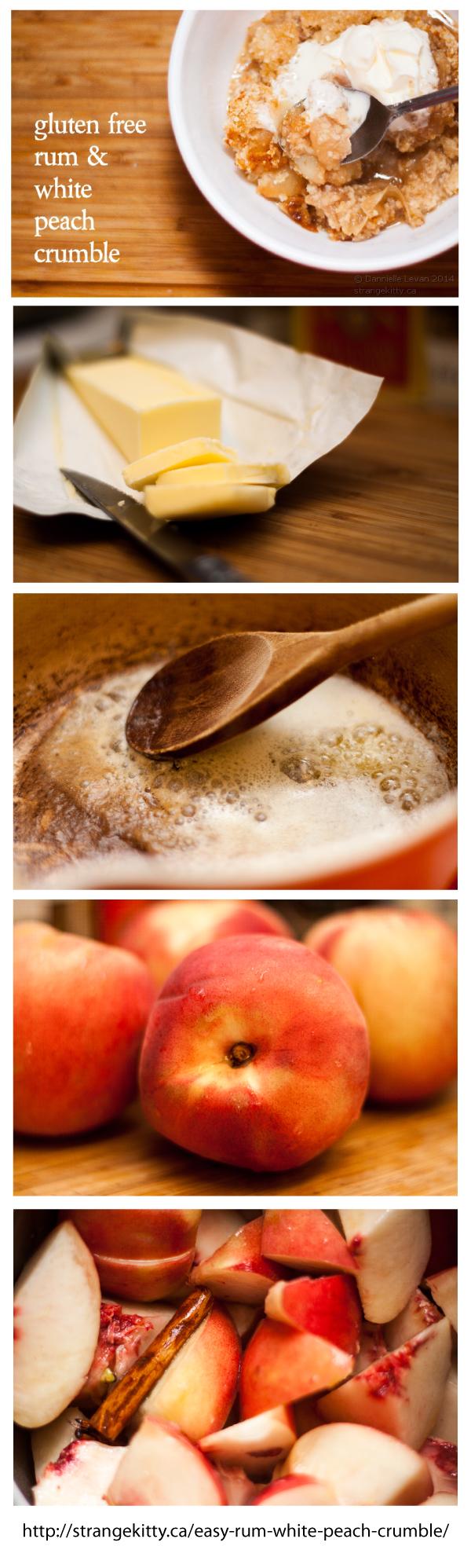 Easy Rum & White Peach Crumble StrangeKitty Peach