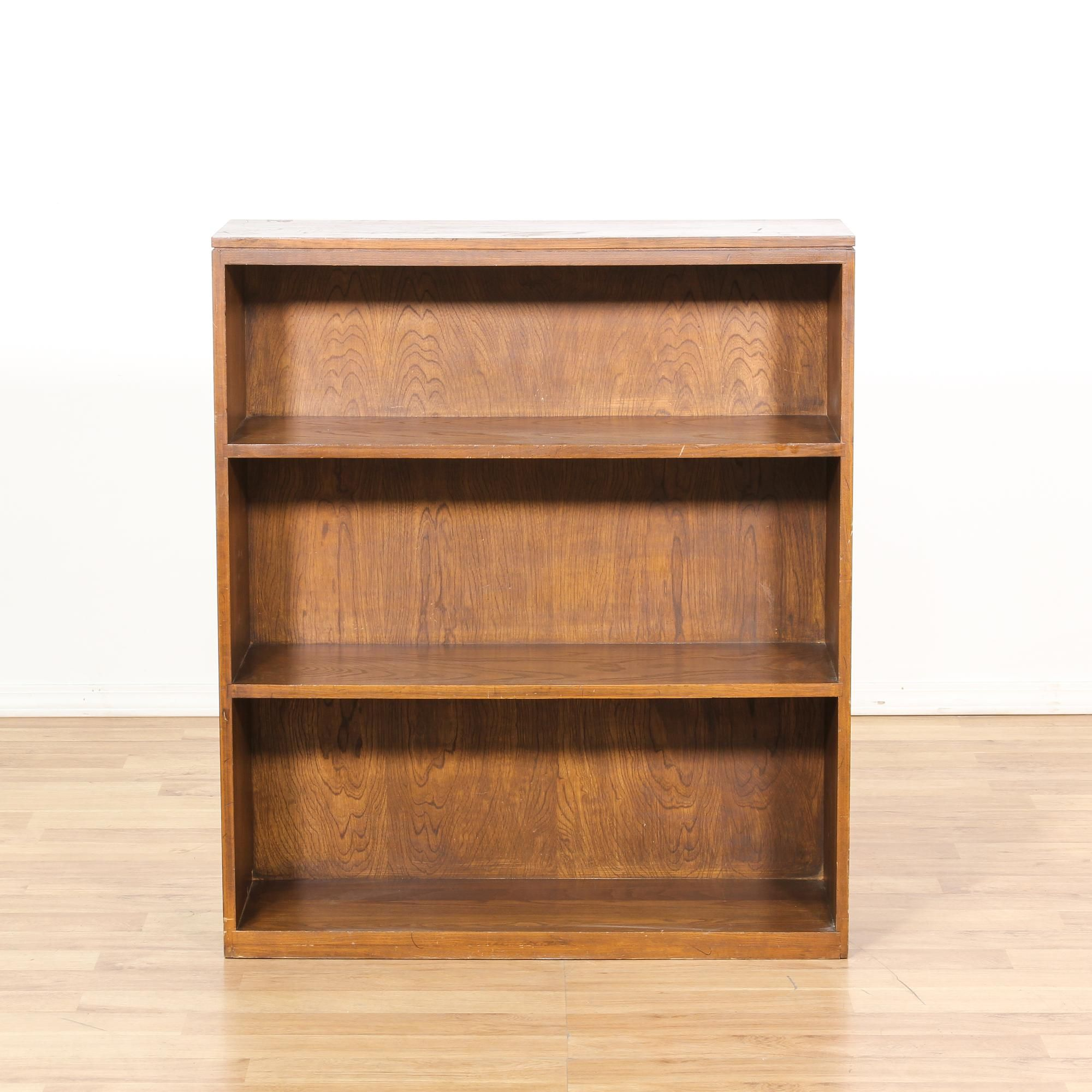 This Bookcase Is Featured In A Solid Wood With Glossy Dark Oak Finish