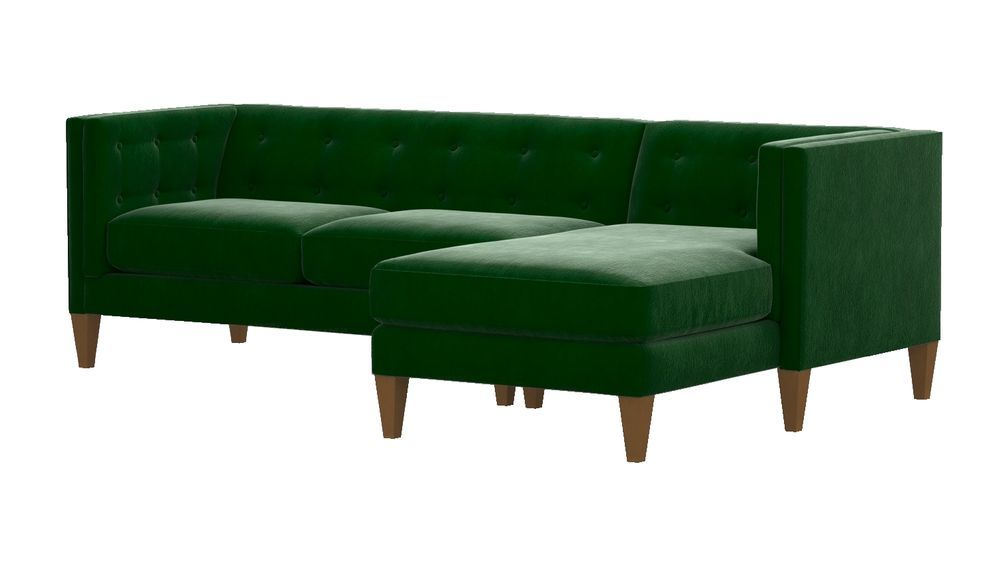 Aidan Green Sectional Sofa With Chaise Reviews Crate And