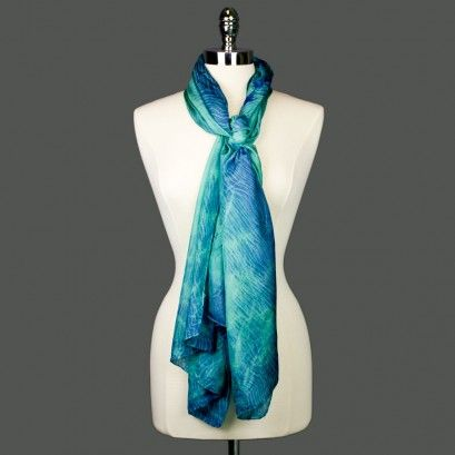 Swoon Silk Scarf - St. Coletta Shops - Hand dyed by people with disabilities in the Greater DC Area