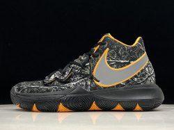 low priced a8460 12ebc Nike Kyrie 5 Black dark gray yellow AO2919-902 Men s Basketball Shoes Irving