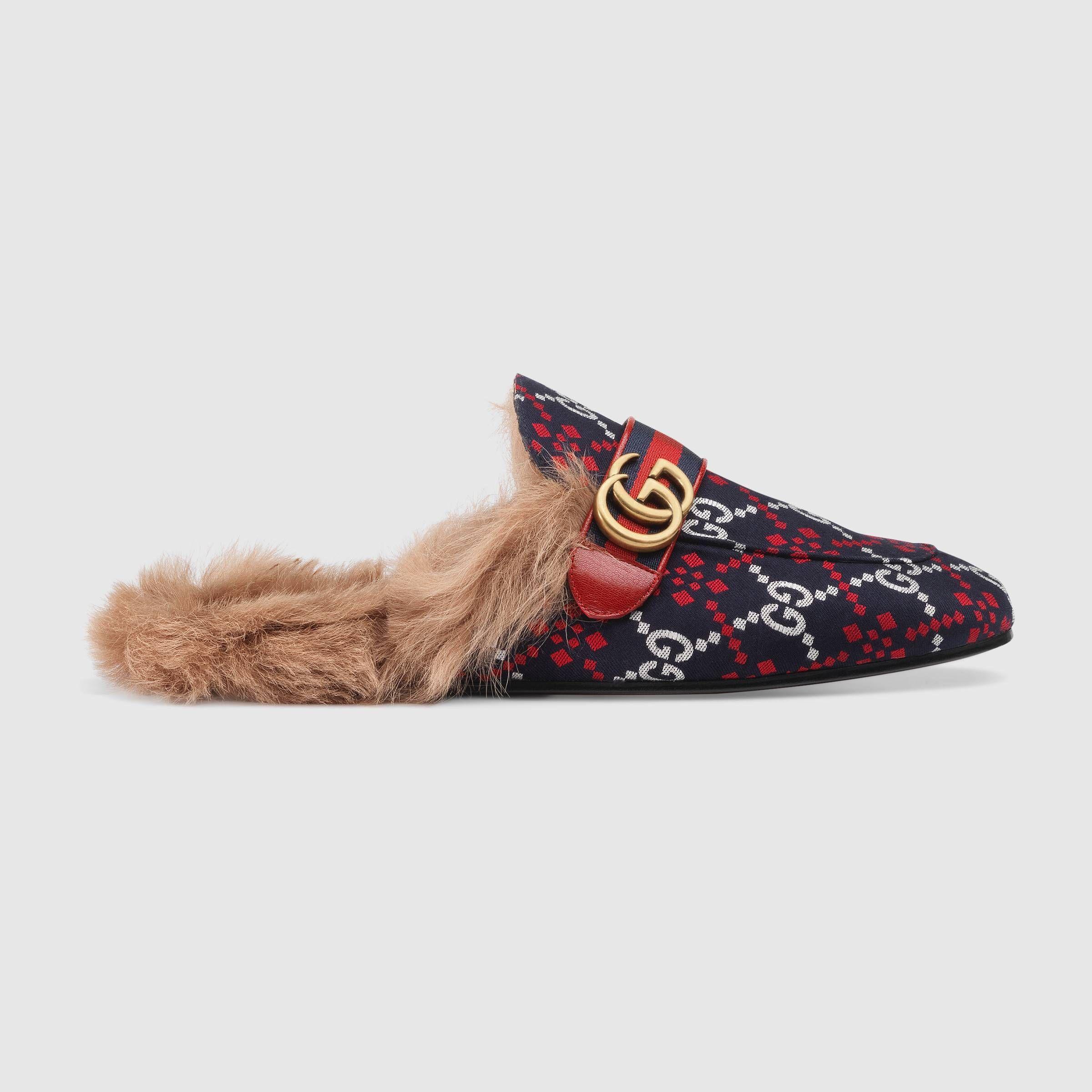 67d8caa8157 GUCCI PRINCETOWN GG DIAMOND SLIPPER.  gucci  shoes