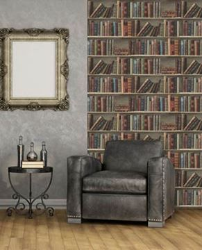 Behang boekenkast Dutch Home in zithoek | HOUT BEHANG | Pinterest