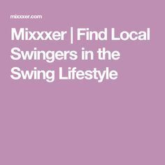 Find local swingers