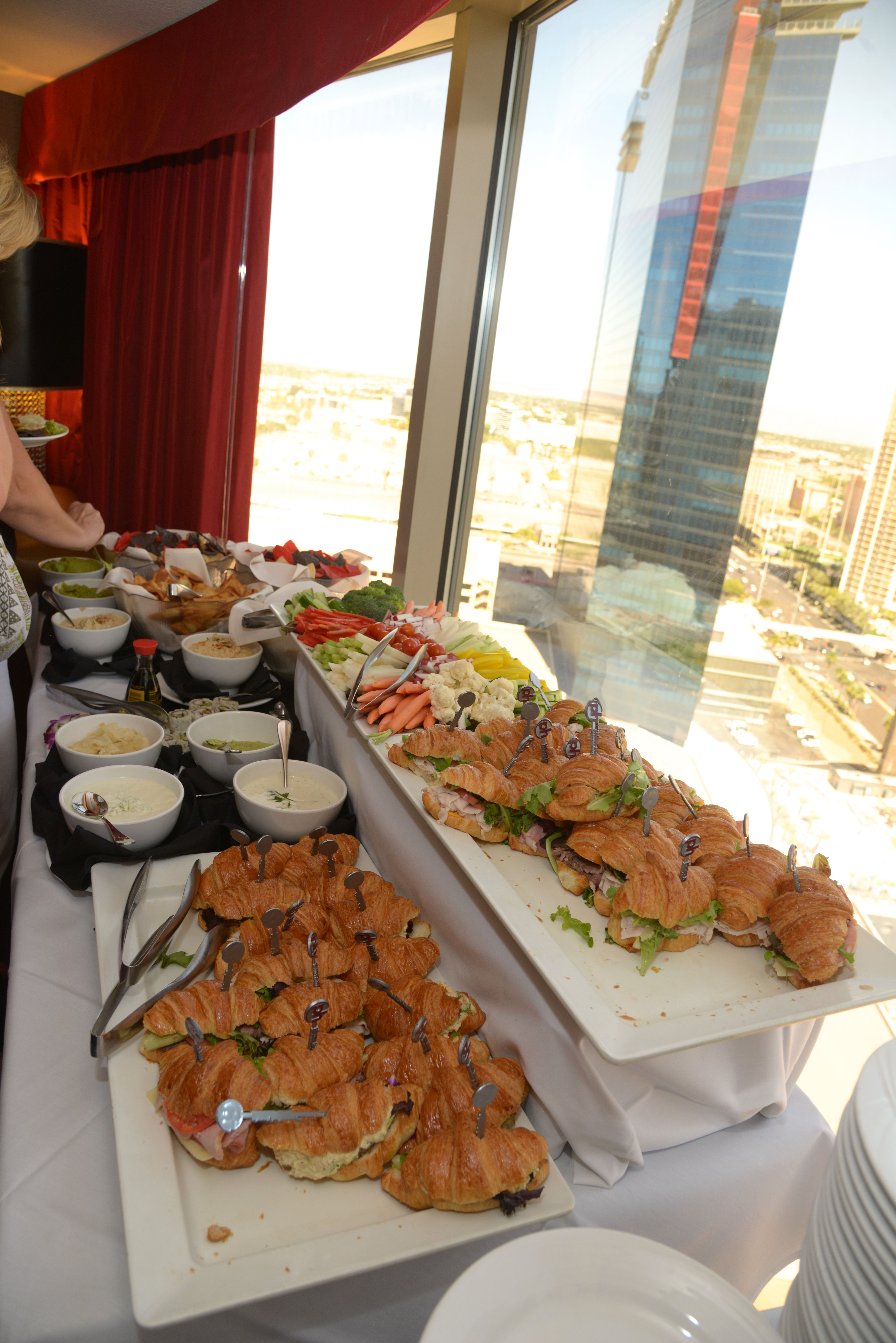 Food Stations In Suite Wedding Reception The Chapel At Planet Hollywood