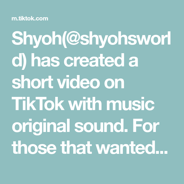 Shyoh Shyohsworld Has Created A Short Video On Tiktok With Music Original Sound For Those That Wanted To Turn I Live Photo The Originals Stuck In The Middle