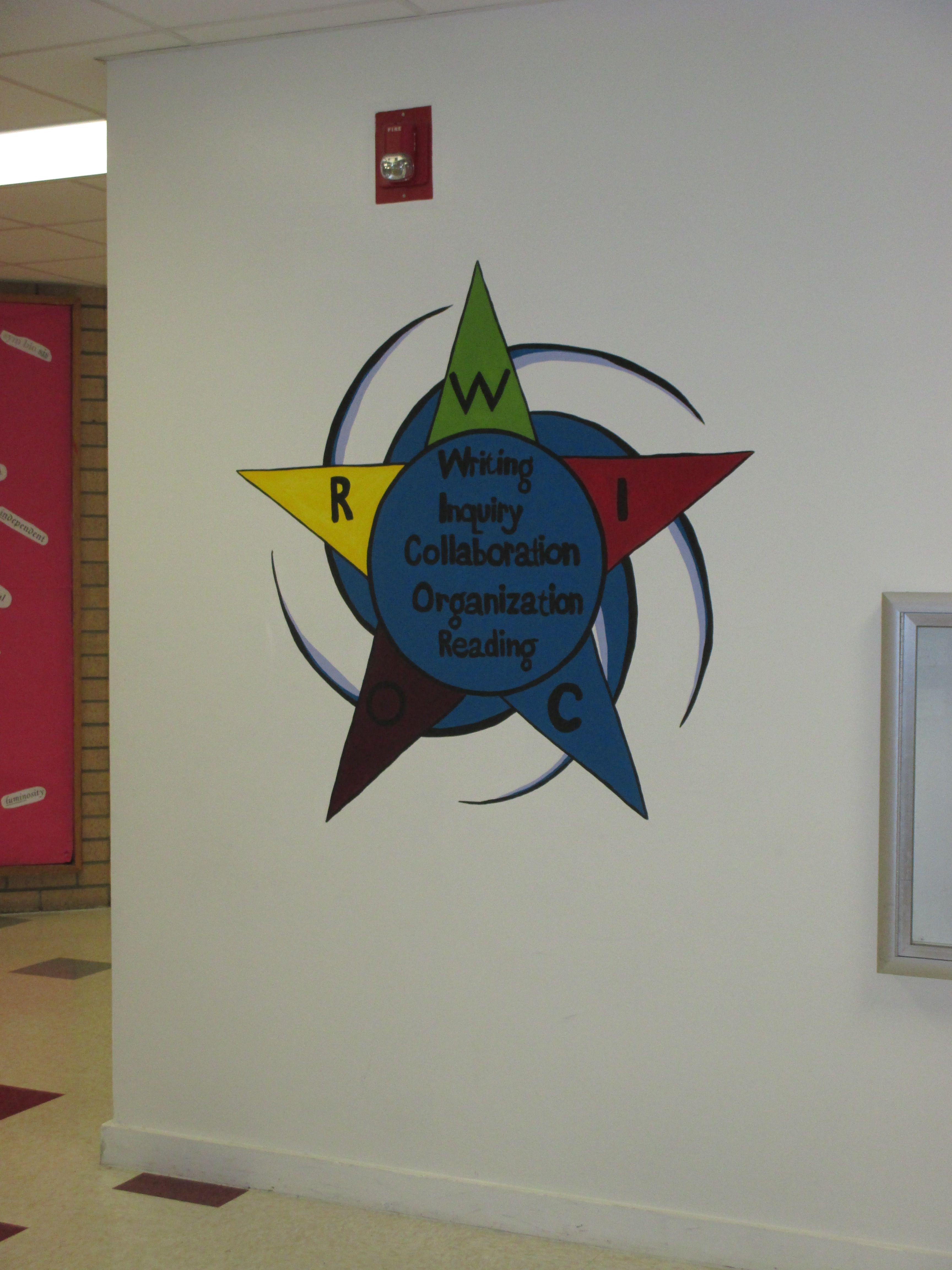 Pin By Swan Studios Inc On Middle School Hallway Murals