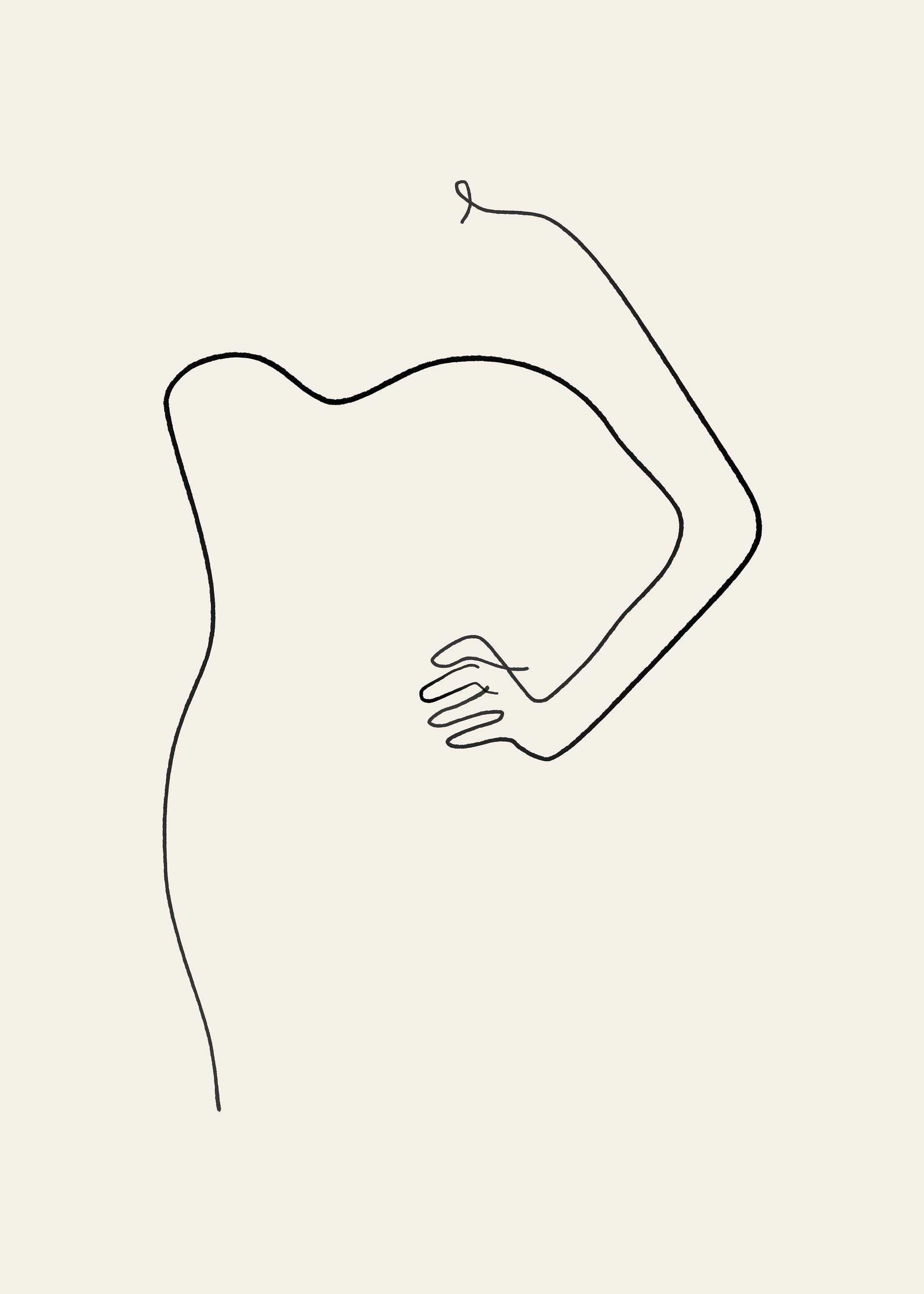 Abstract female figure woman art sketch art continuous abstract sketches abstract lines art drawings