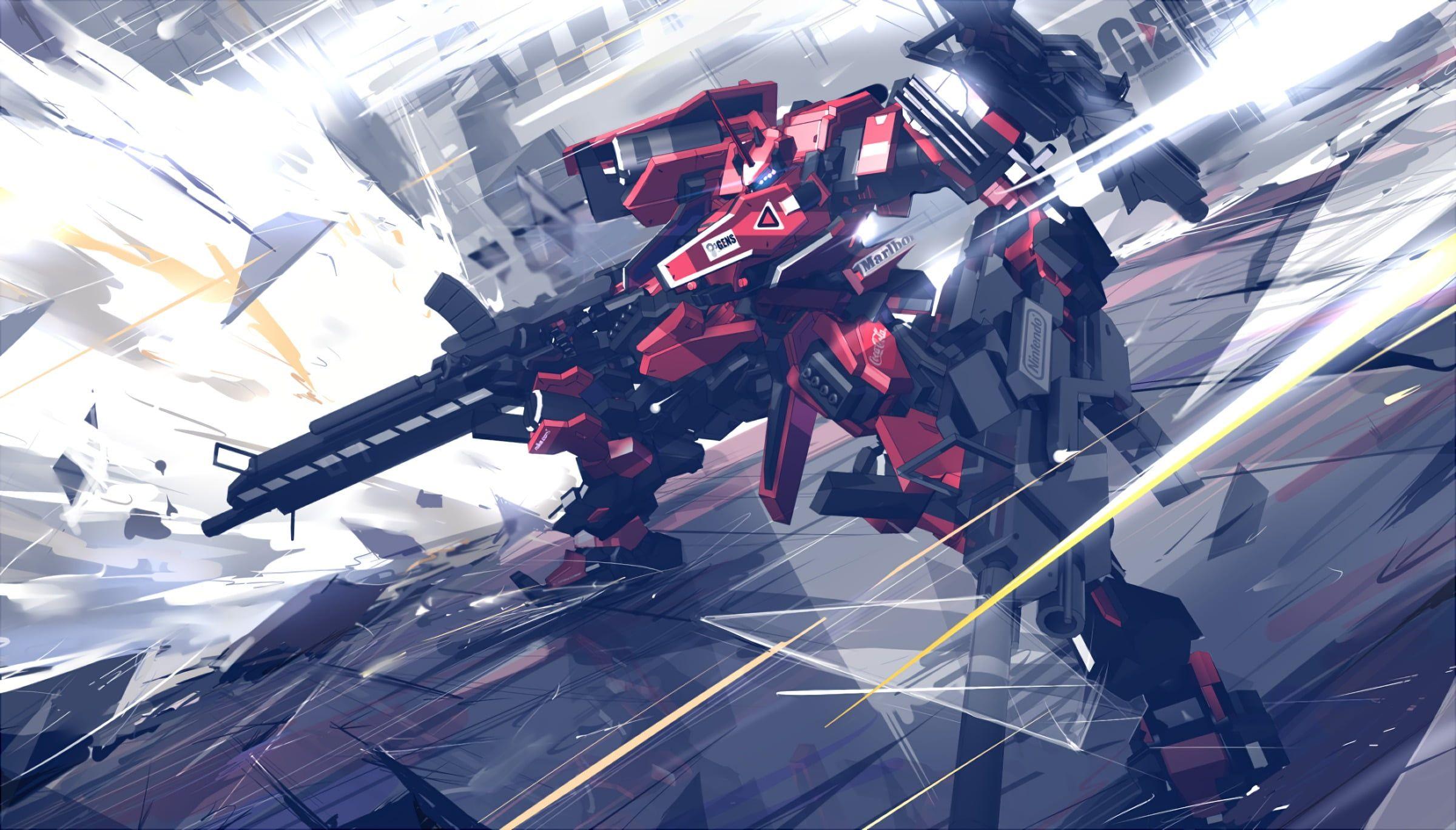 Red And Black Gundam Wallpaper Mech Digital Art Armored Core 1080p Wallpaper Hdwallpaper Desktop Armored Core Gundam Wallpapers Mech
