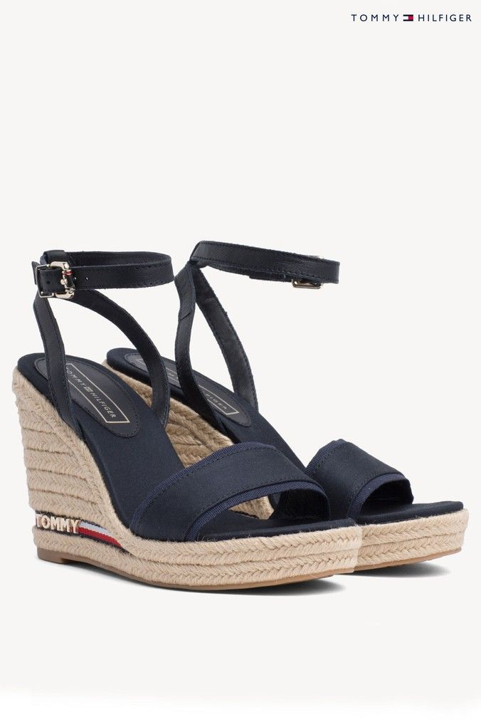209cad13b88 Womens Tommy Hilfiger Iconic Elena Wedged Sandal - Blue   shoes in ...