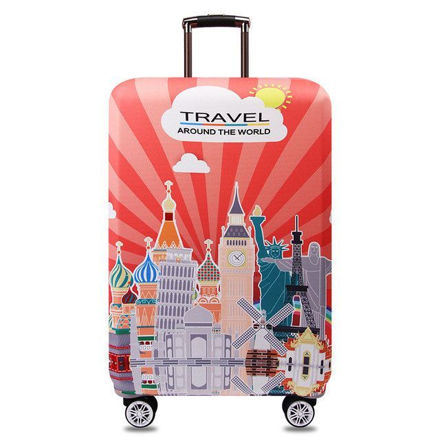 Simple Elegant OKOKC Colorful Thick Suitcase Cover for Trunk Case Apply to 18 32 Picture - Minimalist trunk luggage Inspirational