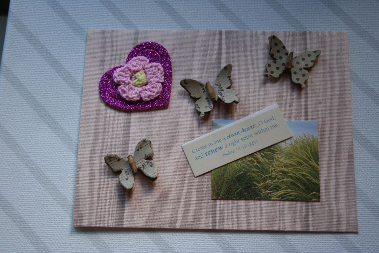 A personal favorite from my Etsy shop https://www.etsy.com/listing/264194929/butterfly-and-hearts-note-card