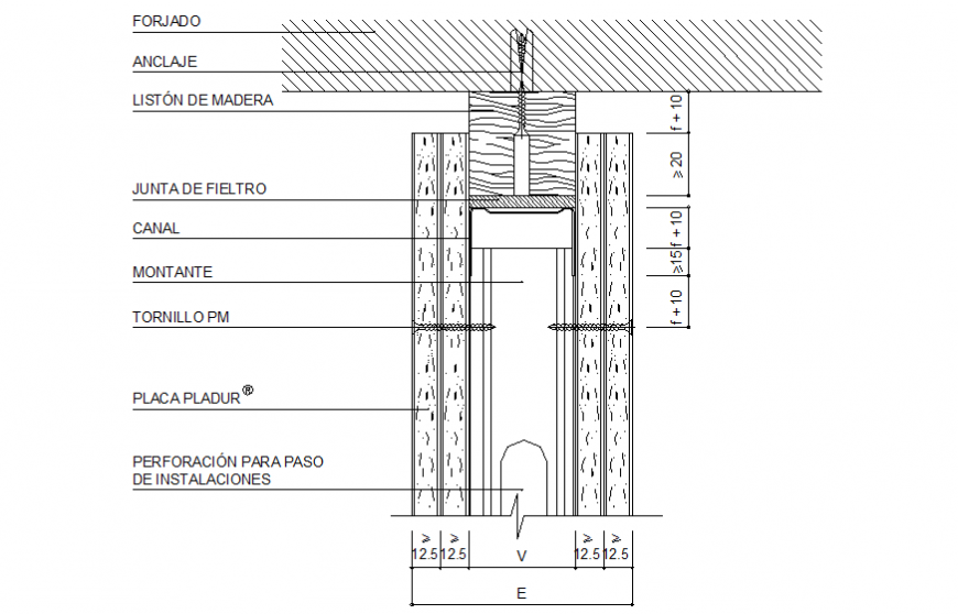 Structural Wall Detail Drawing In Dwg File Cadbull In 2020 Detailed Drawings Plasterboard Wall Joinery Details