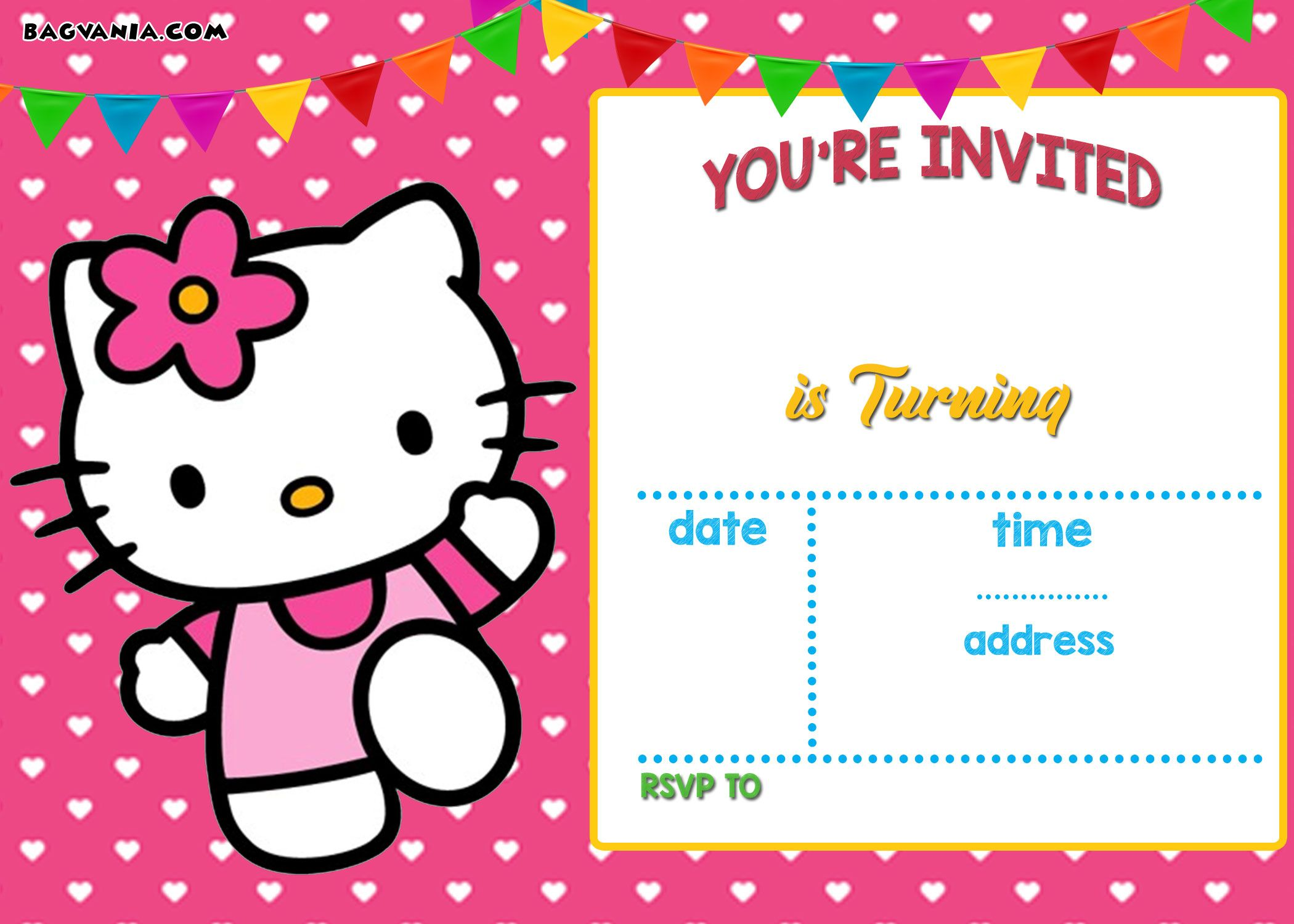 Cool free printable hello kitty invitation templates theme free celebrate your birthday girl with our lovable collection of hello kitty online invitations say hey to our lovable hello kitty invites stopboris Gallery