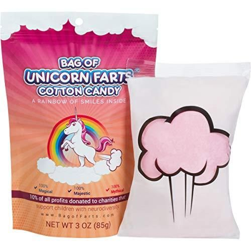 Little Stinker The Original Bag of Unicorn Farts Cotton Candy Funny Novelty Gift for Unique Birthday Gag Gift for Friends, Mom, Dad, Girl, Boy Grandson #cheapgiftideas