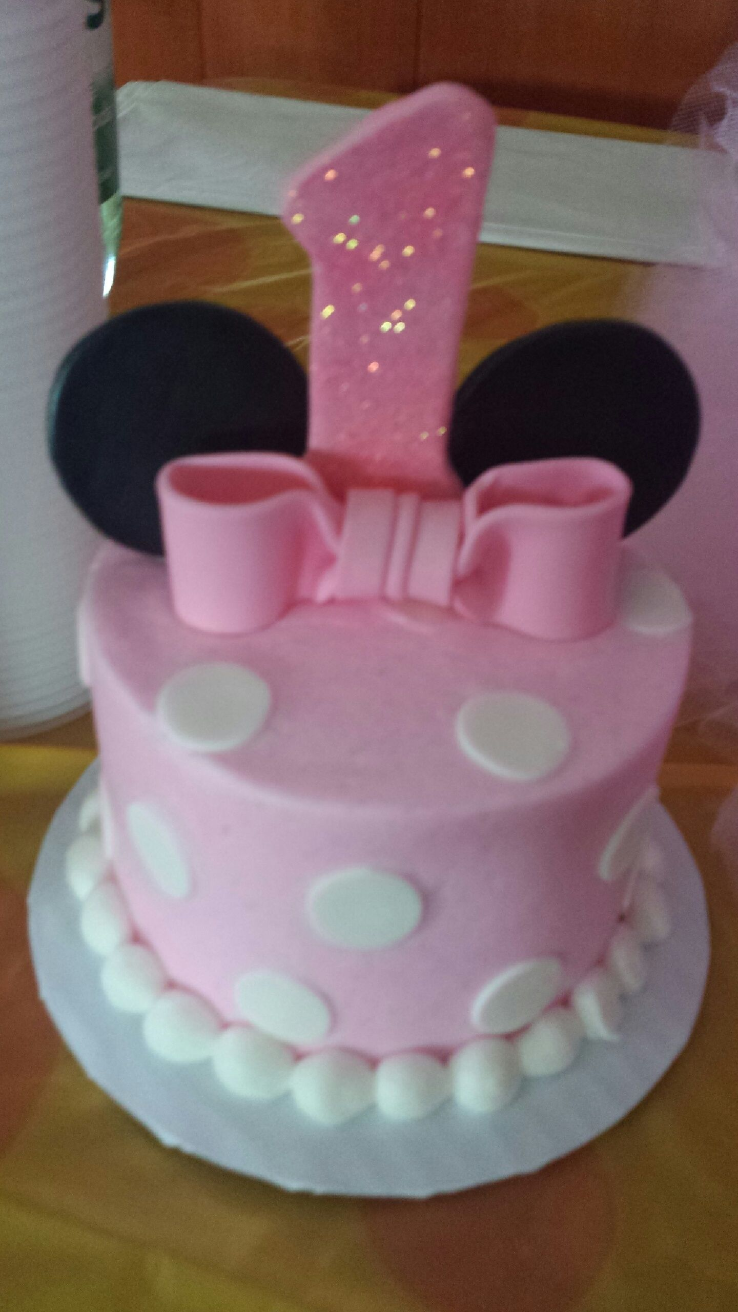 Enjoyable Minnie Mouse Smash Cake With Images Minnie Mouse First Personalised Birthday Cards Veneteletsinfo
