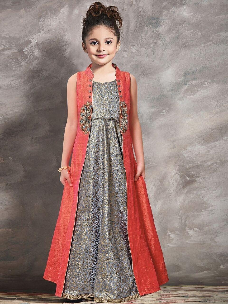 2590cf1143c23 Gowns For Girls, Little Girl Dresses, Cute Girl Dresses, Party Wear Dresses,
