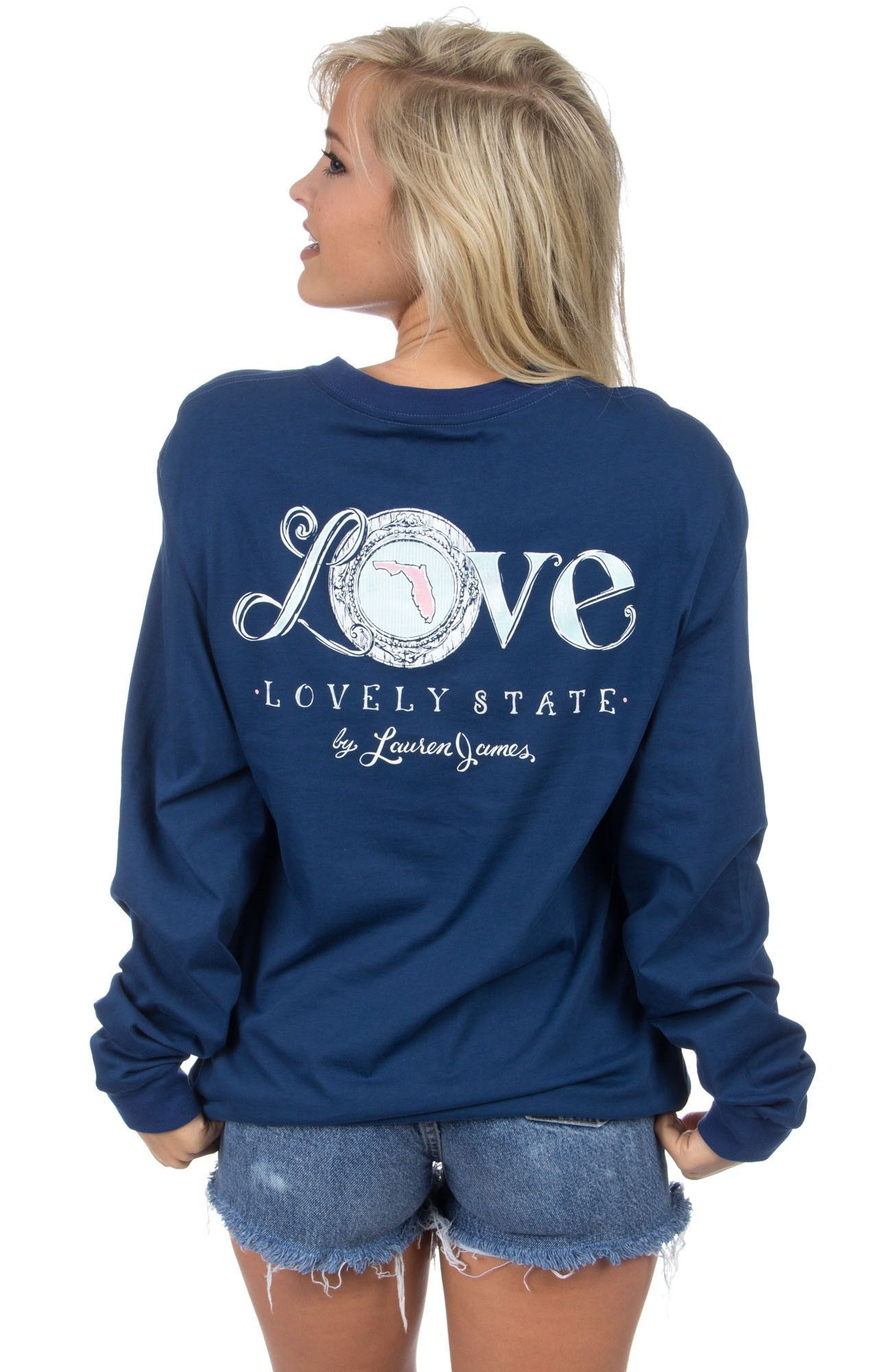Lauren James Florida Love Long Sleeve Tee Long sleeve