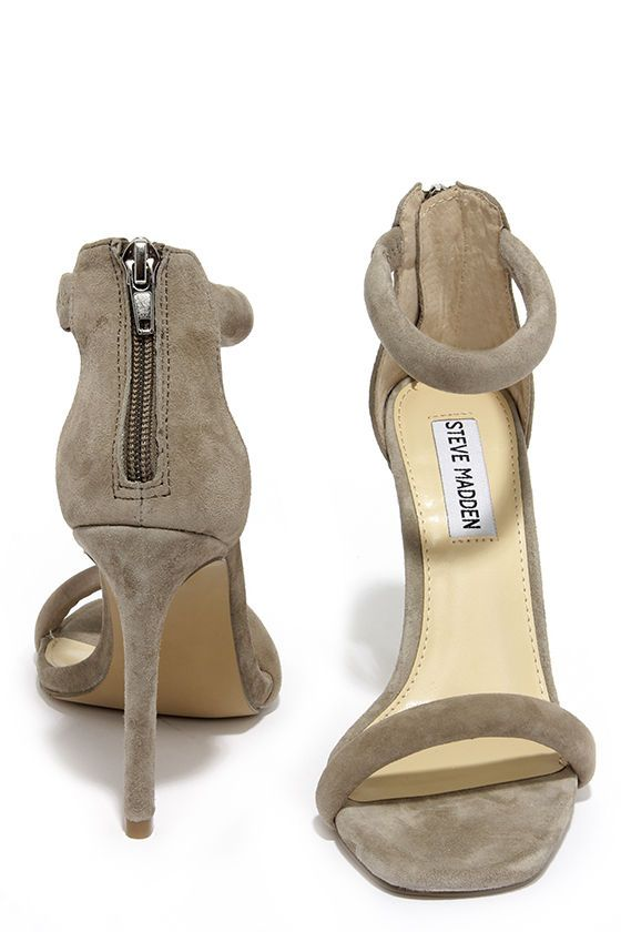 a94415063f Steve Madden Fancci Taupe Suede Ankle Strap Heels | Shoes | Shoe ...